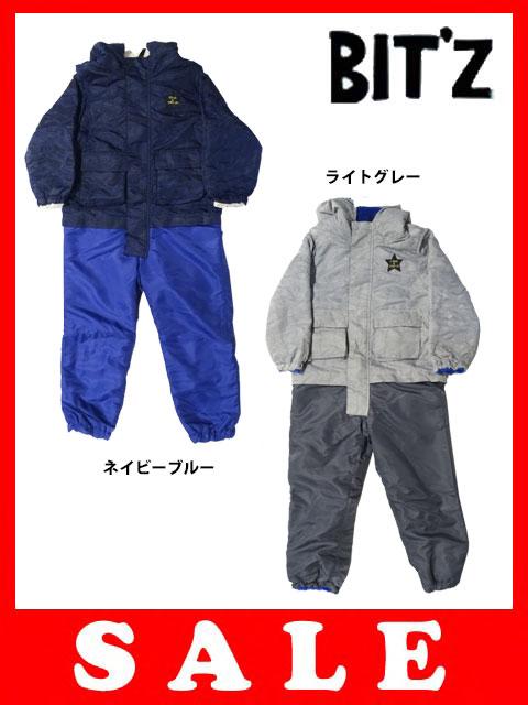 【半額】【セール50%OFF】[メール便NG]Bit'z(ビッツ)ペンギン刺繍柄ジャンプスーツ