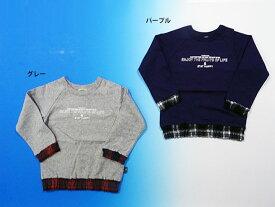 【セール30%OFF】[メール便OK]エフオーキッズ F.O.KIDS チェック切り替えTシャツ