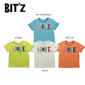 【セール50%OFF】【メール便送料無料】bit'z(ビッツ)ロゴアップリケTシャツ【男の子】【80-120】【b207078】