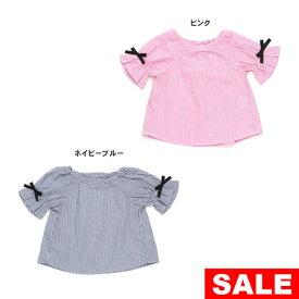 【セール50%OFF】【メール便送料無料】seraph(セラフ)フリル使いフレンチTシャツ【女の子】【90-140】【s209908】