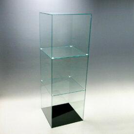 アクリル3段ケースB/5面体/ガラスエッジ/幅30cm/奥行30cm/高さ91.2cm