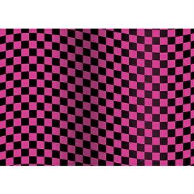 置き式背景チェンジ幅60cm専用ポスター/コレクションケース/A2サイズ/旗チェックピンク×黒