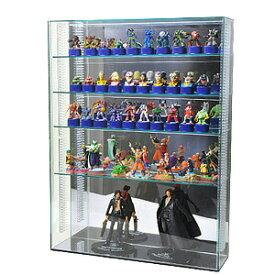【 送料無料 可動棚 置き式 】アクリルコレクションケース/フィギュアケース/ガラス色 L/フロントオープン式/ 幅45cm/奥行13cm/高さ60cm 棚板4枚付