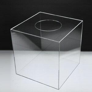 【 抽選箱 大 】 アクリル抽選箱 クリア L /幅30cm/奥行30cm/高さ30.6cm 透明