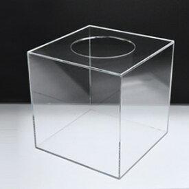 【 抽選箱 小 】 アクリル抽選箱 クリア S /幅20cm/奥行20cm/高さ20.6cm 透明
