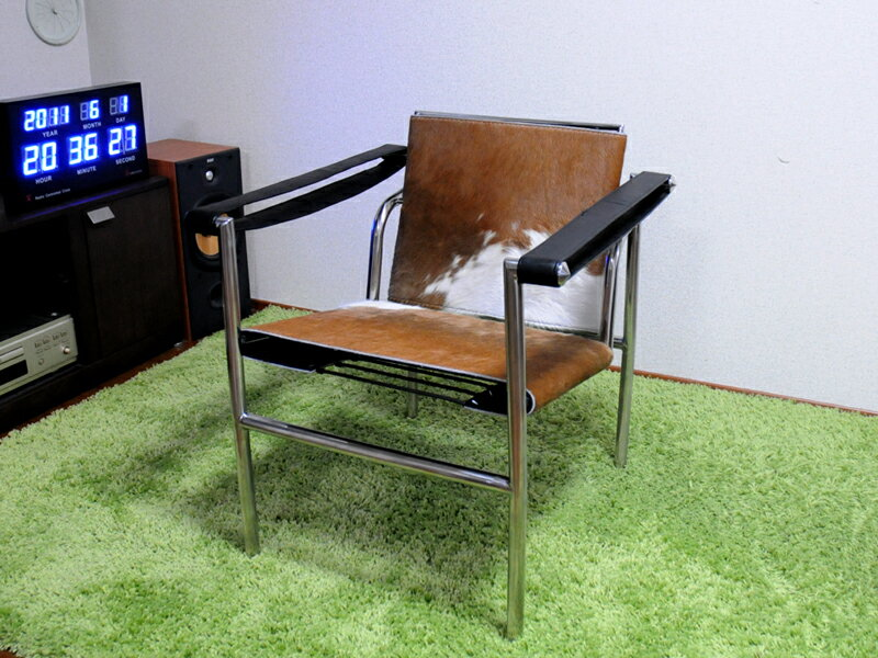 Le Corbusier /LC1 Pony Sling Chairs / Brown X White / Finest Ponyskin Spec  Brand New Le Corbusier Sling Chair Pony Chair Relax Chair Personal Chair  Per ...