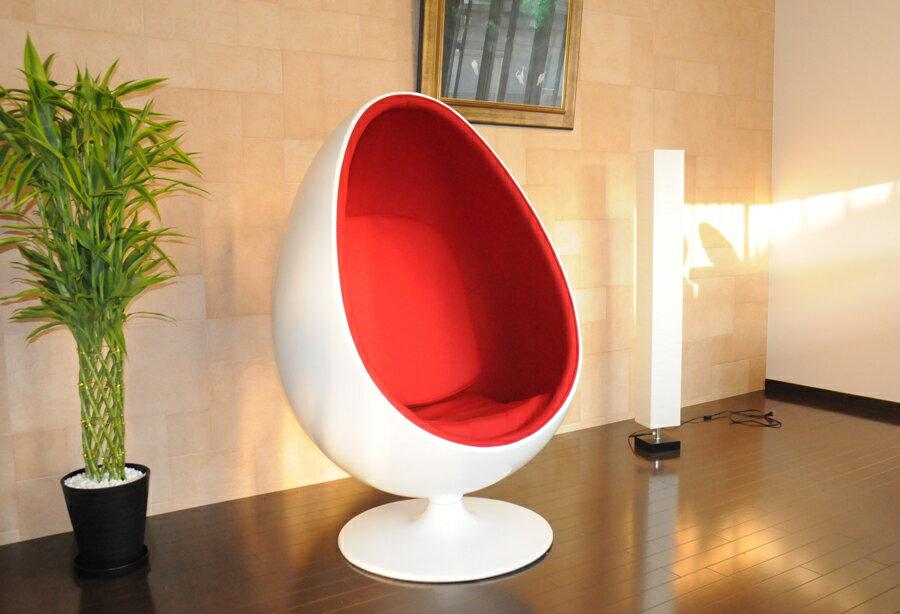 Sessle Eye ボールチェア/エーロ・アールニオ デザイン/レッド Eero Aarnio ball chair ミッドセンチュリー パーソナルソファ 一人掛け 1人用 リビング家具 応接家具 デザイナーズ家具
