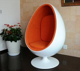 Sessle Eye ボールチェア/エーロ・アールニオ デザイン/ホワイト×オレンジ  Eero Aarnio ball chair design furniture mid century ミッドセンチュリー デザイナーズ家具  高品質 応接家具 パーソナルチェア