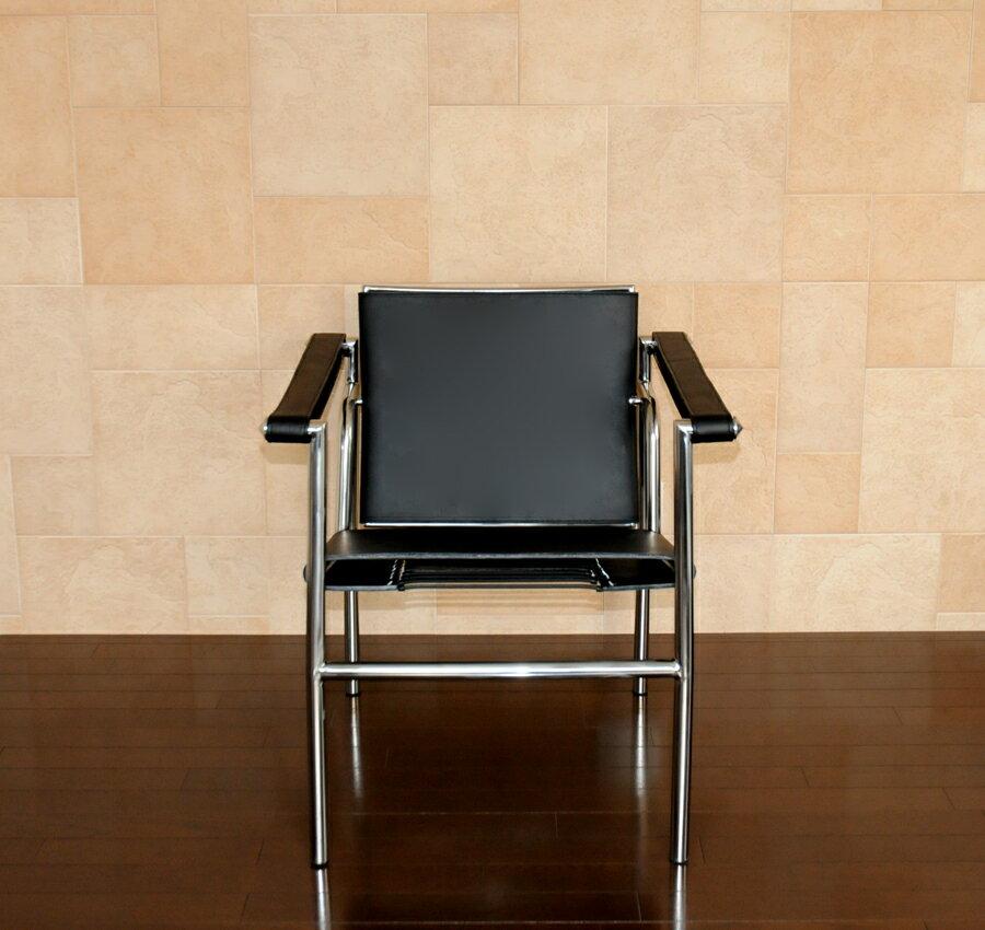 ル・コルビジェ LC1 ブラック(black) スリングチェア最高級レザー仕様 Le Corbusier Sling Chair 椅子 イス いす パーソナルチェア 一人用 一人掛け ダイニングチェア カウンターチェア