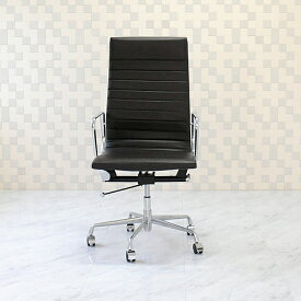 イームズ アルミナムグループチェア 本皮仕様 ダークブラウン ハイバックオフィスチェア デスクチェア パソコンチェア eames aluminum group chair