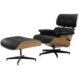 イームズラウンジチェア ブラック×ナチュラル 総本革CharlesRayEames パーソナルチェア 1人用 1人掛け 椅子 いす イス ソファ ソファー チャールズ&レイ・イームズ