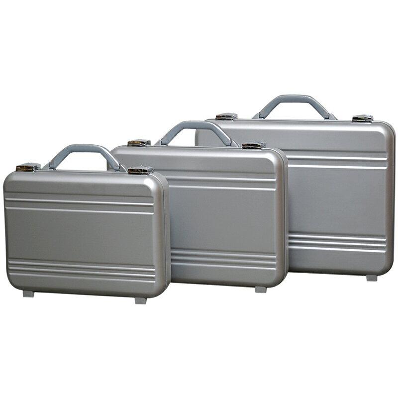アルミ製 アタッシュケース Mサイズ B4サイズ対応 シルバー 軽量モデル ノートパソコン収納可能 ビジネスバッグ ブリーフケース PCケース パソコンバッグ