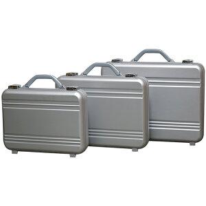 アルミ製 アタッシュケース Lサイズ A3サイズ対応 シルバー 軽量モデル ノートパソコン収納可能 ビジネスバッグ ブリーフケース PCケース パソコンバッグ