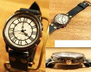 時計作家のこだわり手作り腕時計LEOCRAFTレオクラフトメンズBS-GW121/送料無料1