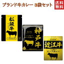 ブランド肉使用 カレー 3種類セット 松坂牛 神戸牛 近江牛 3大ブランド牛 カレー  1000円 送料無料 ポスト投函便