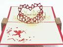 天使とハートツリー (150種超のデザイン!POPUPCARD専門店 ・ポップアップカード屋さん)【誕生日】【バレンタイン】【父】【母の日】【クリスマス】【プレ...
