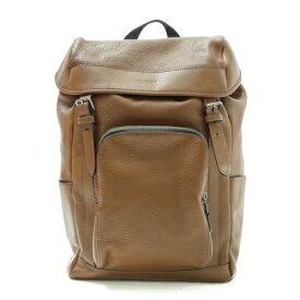 【未使用】 コーチ COACH バックパック ヘンリー F72311 レザー リュック 巾着 バッグ メンズ レディース ブラウン茶色 p202012416