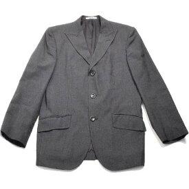 【中古】 ケンゾー オム KENZO HOMME テーラードジャケット ウール 3ボタン スーツ ジャケット メンズ ダークグレー 3 (Lサイズ) 【税込10,000円以上で送料無料】【ユーズド】p-ai19101407
