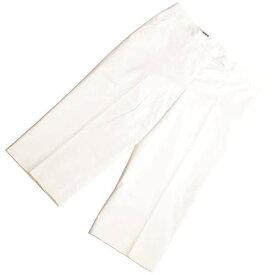 【中古】 ジルサンダー JIL SANDER カプリ パンツ スラックス ショート クロップド コットン レディース ホワイト 白 34 XS p-eg19101345