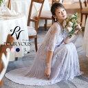 ワンピース 結婚式 パーティードレス フォーマルドレス ドレス 袖あり 袖付き 総レース レース 袖 お呼ばれ フォーマ…