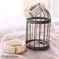 パールブレスレットラインストーン結婚式レディースファッションパーティースタイルコーディネートホワイトお呼ばれアクセサリーパーティーa054春新作20代30代40代50代ファッション