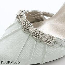 パンプスサテンフォーマルハイヒールストラップビジューベージュブラックパーティレディースファッション靴9cm新作20代30代40代50代ファッション