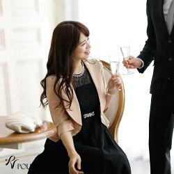 リボンボレロ二次会結婚式ワンピースドレス結婚式ボレロLA羽織お呼ばれボレロパーティーボレロフォーマルショールストールパーティードレスレディースファッションシフォン大人お呼ばれ1695新作20代30代40代ファッションブライズメイド袖あり袖付き
