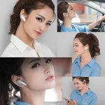 Bluetoothイヤホンヘッドセット小型ワイヤレス無線カワイイ高級感マルチポイント両耳対応【メール便送料無料代引不可】