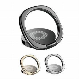 スマホ リング 落下防止 ホールドリング スタンド 磁石 車載ホルダー 併用可能 軽量 薄型 安定 指輪型 スマホリング PR-SMRING01 【メール便 送料無料】