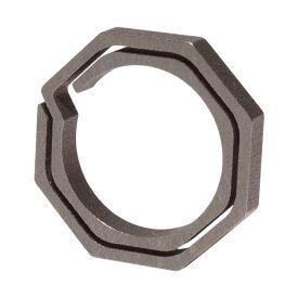チタン製 キーリング 八角形 小タイプ キーホルダー カギ 鍵 軽量 丈夫 リング 直径20mm 内径15mm アクセサリー PR-TIRING-SHO【メール便 送料無料】