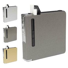シガレットケース 20本 収納可能 タバコケース 電熱 ライター おしゃれ スリム USB充電 防湿 防風 メンズ レディース PR-CIGARETTES【メール便 送料無料】