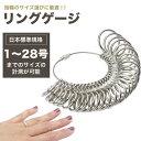 リングゲージ 日本標準規格 指輪 サイズ 号数 計測 金属製 フルサイズ 1〜28号 サイズゲージ リング ゲージ ペアリン…