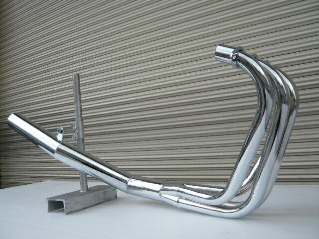 GPZ400F ショート管 70π 新品 マフラー メッキ