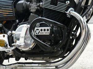 CBX400Fエンジンガード新品メッキマフラー