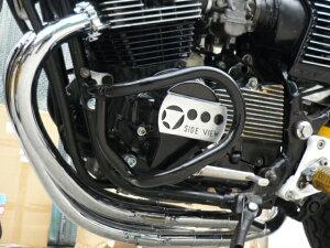 CBX400Fエンジンガード新品ブラックマフラー
