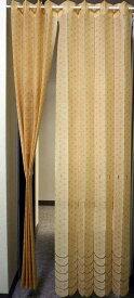 【送料無料】アコーディオンのれんスタンダードなベージュ生地幅約145cm 丈約175cm