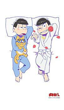 【描き下ろし】おそ松さん 一松&カラ松養いシーツ幅広さ 約128cm 丈長さ 約220cm