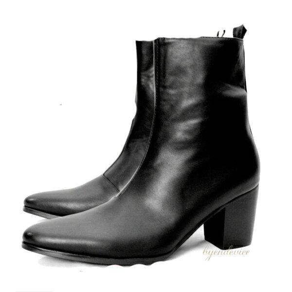 SuperHeelBoots メンズブーツ・ヒール高いブーツ・衣装ブーツ・カッコイイブーツ・おしゃれ ブーツ・ホストブーツ・ブーツ 男物・ロック ブーツ