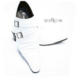エナメルバックルストーン/白いシューズ・ホワイトシューズ・白い靴・メンズ白靴・ブライダルシューズメンズ・ポインテッドトゥー・エナメルシューズ・結婚式シューズ