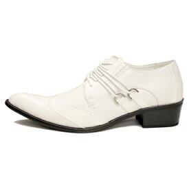 白いシューズ・The Bondage White Shoes白いシューズ・ホワイトシューズ・白い靴・メンズ白靴・ブライダルシューズメンズ・ポインテッドトゥー・エナメルシューズ・結婚式シューズ・