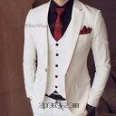 NewWhite Prince 3p Suit,ホワイトスリーピーススーツ/Vホワイトスーツ・セットアップスーツ白・白光沢スーツ・ホワイ…