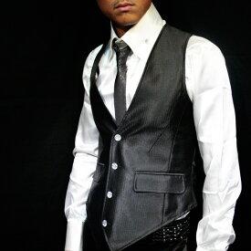 Ultimate BlackShadow Vest,男物ベスト,結婚式ベスト・メンズベスト・スーツベスト・黒ベスト・光沢ベスト