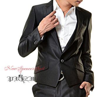C's Black Suits slender suit, shiny suit, ホストスーツ, men's suits, groom accessories, biz, men's welding, groom accessories, brother of, wedding men's 02P18Oct13d4