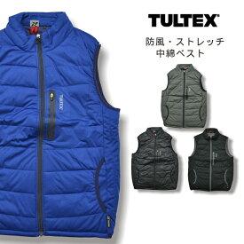 【送料無料】「TULTEX(タルテックス)」防風ストレッチ中綿ベスト/LX56502/【2018 WEX 防寒 作業服】