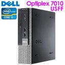 【あす楽】中古 デスクトップPC Windows10 本体 DELL OPTIPLEX 7010 USFF Core i5 3470S 2.90GHz メモリ 4GB HDD 320G…