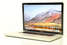 あす楽 Apple Macbook Pro A1286 MACBOOKPROCI7-2200 Core i7 2675QM 2.2GHz メモリ 8GB HDD 500GB スーパードライブ Late 2011 Bluetooth カメラ 3ヶ月保証【中古】【消費税込】【送料・代引手数料無料】