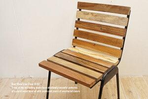 [ポイント10倍] 【送料無料】ボート再生家具アイアンチェア01NA スタッキングチェア リサイクルウッド リユース木材 アンティーク 無垢材 古材 アジアン家具 椅子 木製いす 天然木イス 完成