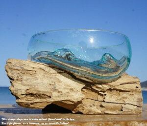 ポイント10倍 選べる 流木ガラスオブジェ B20 花瓶 アクアリウム テラリウム フラワーポット 金魚鉢 メダカ水槽 バリ島 アジアン雑貨 ポプリ入れ 容器 器 リサイクルガラス オブジェ かわいい