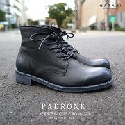 パドローネレースアップブーツロマノブラックPADRONELACEUPBOOTSROMANOBLACKBLKPU8586-1107-17a革靴日本製madeinjapan