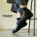 トリッペン ベルクロ ショート ブーツ ベース ブラックtrippen velcro short boots BASE-WAW BLK-BK